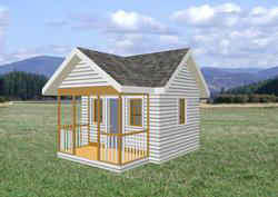 Playhouse Plans - Child's outdoor wood playhouse building plans